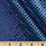 44'' Wide Dazzle Metallic Sequin Knit Lavendar/Turquoise Fabric By The Yard