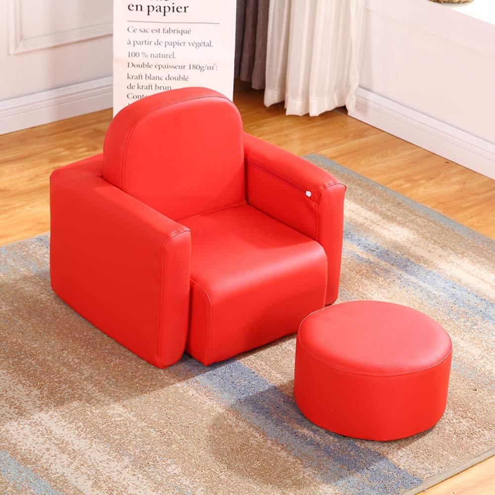 V&K Seduta divano per bambini, Pigro mini di pelle Divano di capretto Cuoio imbottito Poltrona Per gioco relax -verde