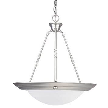 Sunset lighting f7678 53 pendant with faux alabaster glass satin sunset lighting f7678 53 pendant with faux alabaster glass satin nickel finish aloadofball Choice Image
