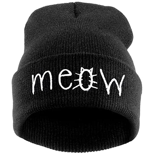 New Fashion Men Women Rose Embroider Black Beanie Knit Hat Ski Warm Winter Cuff Lovers Cap Men's Skullies & Beanies Men's Hats