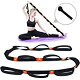 "5BILLION Yoga Stretch Strap with Loops - 1.6"" x 6.7ft - Cotton Yoga Strap for Hot Yoga, Physical Therapy, Greater…"