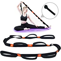 """5BILLION Yoga Stretch Strap with Loops - 1.6"""" x 6.7ft - Cotton Yoga Strap for Hot Yoga, Physical Therapy, Greater…"""