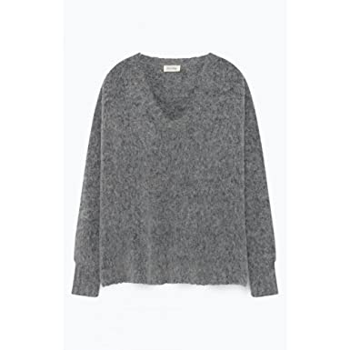 6073cac8e1c1 American Vintage Zapitown Jumper in Heather Grey ONE Size  Amazon.co ...