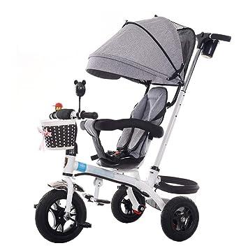 Bicicleta de Triciclo para Cochecito de bebé 3 en 1 para niños de 1-6
