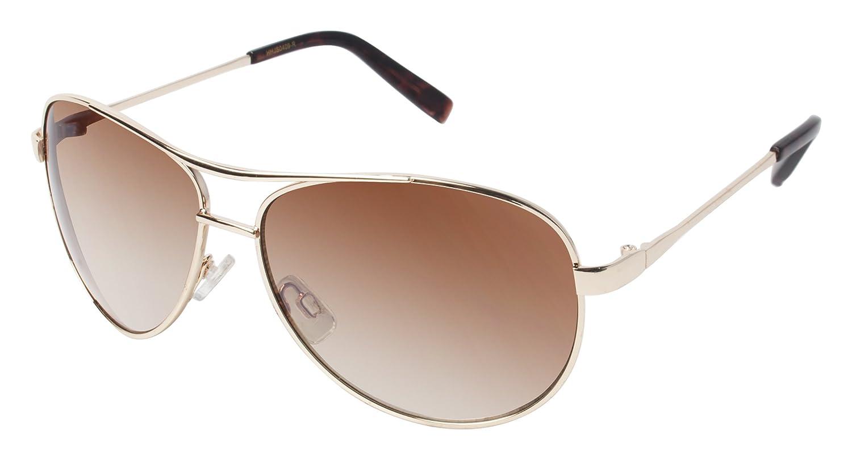 32565ba6b5 Amazon.com  Jessica Simpson Women s J106 Gld Aviator Sunglasses Gold 56 mm   Clothing
