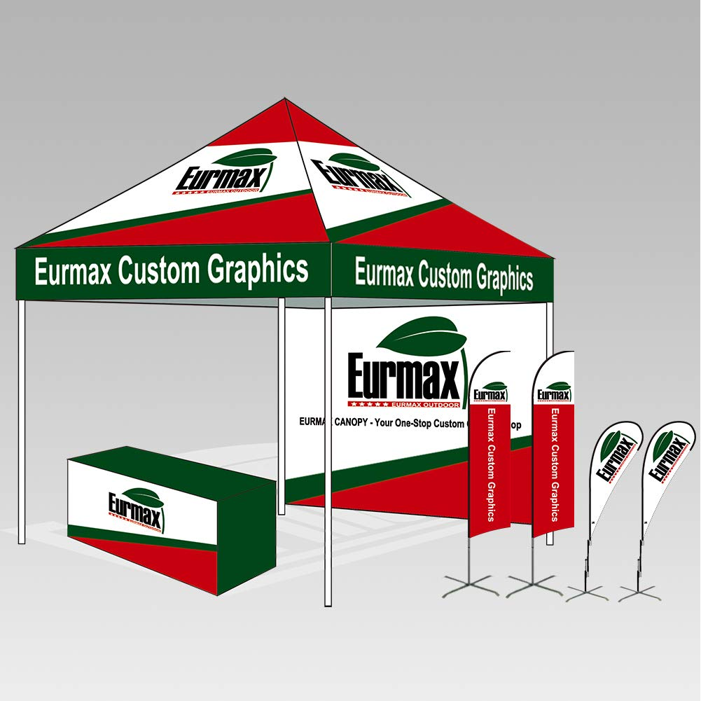 Eurmax 10'x10' Ez Pop Tent Commercial Instant Canopies with 4 Removable Zipper End Side Walls and Roller Bag Bonus 4 SandBags Weight, 1-White by Eurmax (Image #6)