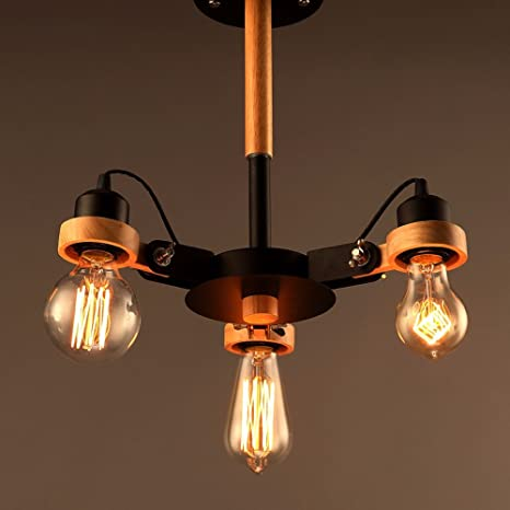 Edison Loft Style Industrial Vintage Ceiling Lights, Can Be Adjusted ...