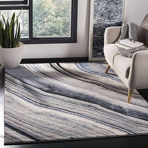 Safavieh Spirit Collection SPR120M Modern Contemporary Abstract Area Rug, 8 x 10 , Blue Grey