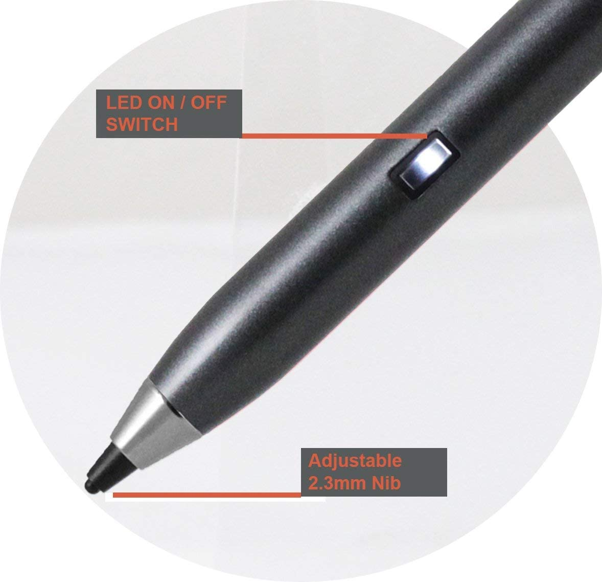 Broonel Grey Fine Point Digital Active Stylus Pen Compatible with The HP ProBook x360 11 EE 11.6 G5 EE 11.6 HP Stream 11 Pro G4