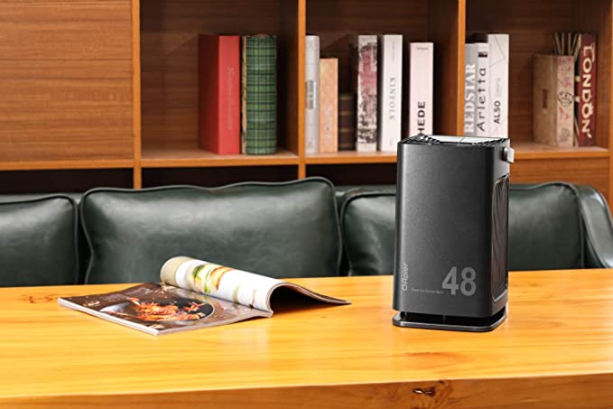 OApier Purificador de aire portátil OAapier con filtros HEPA reales y de carbón activo para el hogar, alergias, olores, polvo, PM2.5, eliminación de polen ...