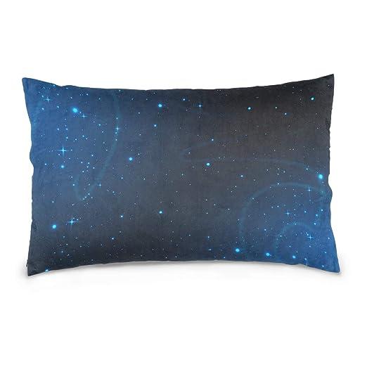 LORONA Galaxy Vector con estrellas, funda de almohada de ...