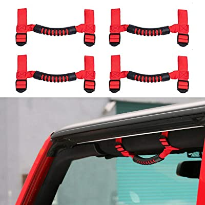 AnTom Jeep Grab Handles Grip Handle for Jeep Wrangler Roll Bar Accessories for Jeep Handles Wrangler JL Accessories Fits 1955-2020 TJ JK JKU JL JLU CJ CJ5 CJ7: Automotive [5Bkhe0916284]