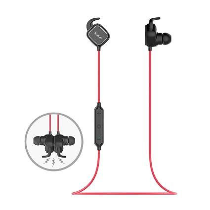 Auricular magnético JESBOD Auriculares Bluetooth 4.1 Cascos inálambrico Deportivos, Auricular con Imán Magnético, aptX