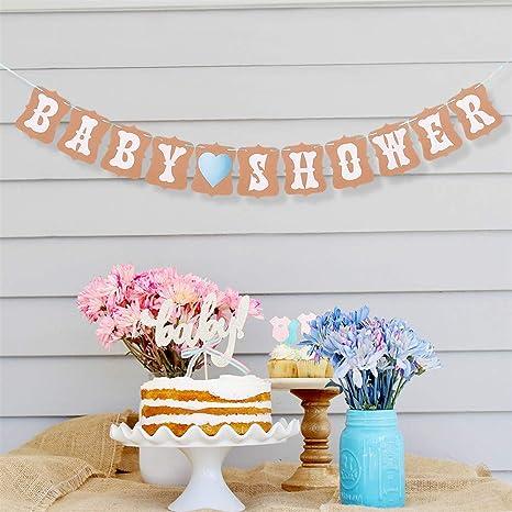 21154f8c4 UNHO Bandera Bebé Guirnalda Bunting Decoración de Baby Shower Banner Letras para  Niño Niña Pancartas de