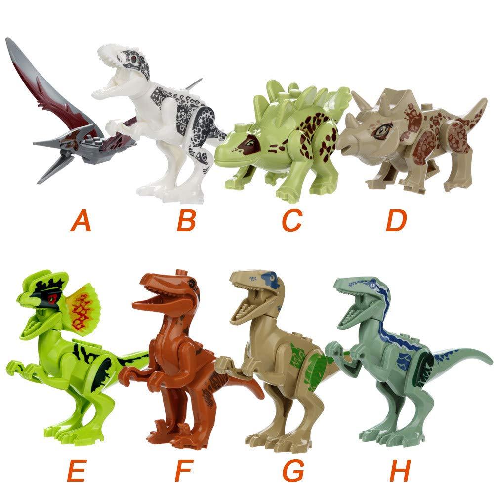 Wenini Dinosaur Toys, Mini Dinosaur DIY Building Blocks Action Figures Playset Party Favors Toys Kids Boys Toddler Educational Gifts (G❤️) by Wenini (Image #7)