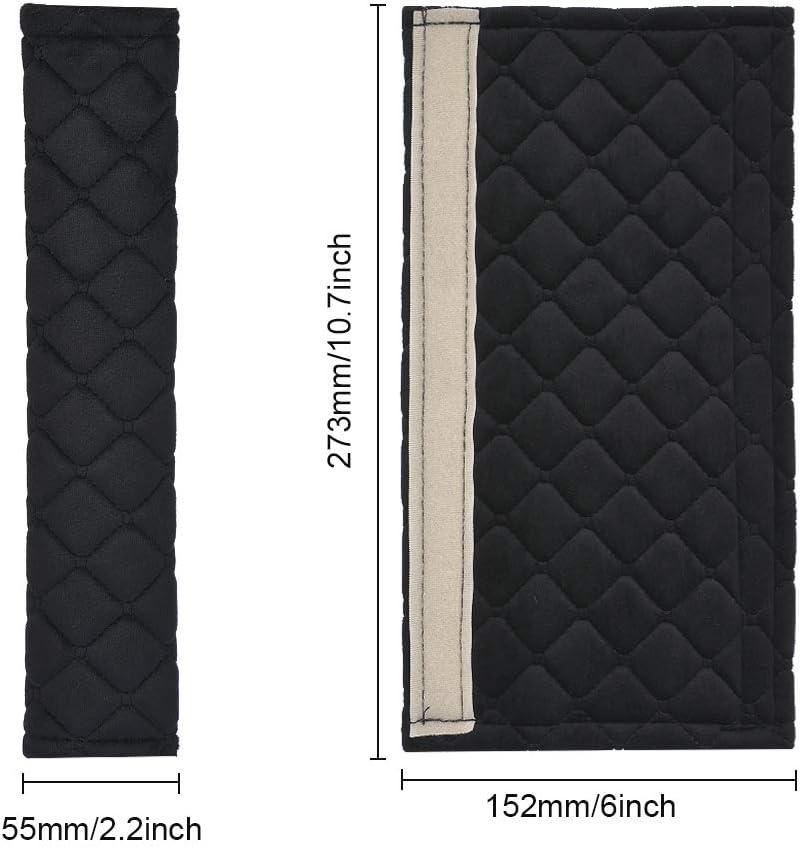 8X-SPEED per 308 Guaine per Cintura di Sicurezza,Imbottiture Cintura Accogliente Morbido Non-scivoler/à 2 Pezzi Blu