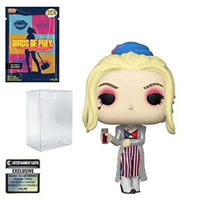 Birds of Prey Harley Quinn Black Mask Club Pop! Vinyl Figure with Collectible Card - Entertainment Earth Exclusive - and with 1 Compatible PET Graphic Protector Box: Toys & Games