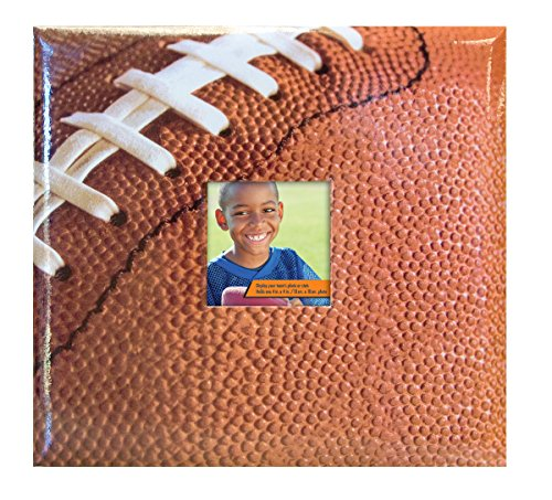 - MBI 13.2x12.5 Inch Sport and Hobby Postbound Album with 12x12 Inch Pages, Football Theme (865404)