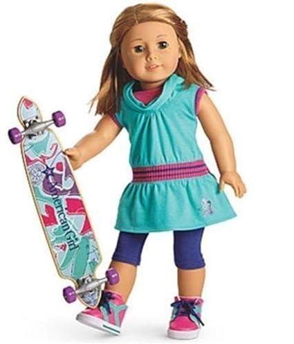 0b01ad87620 Amazon.com: American Girl - Skateboarding Set + Charm for Dolls - MY ...