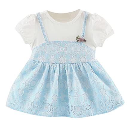 1ab30e844 Girls Dresses For 0-24 Months❤️Internet Baby Girls Short Sleeve Dresses  Clothes Party Princess Dresses (0-6months