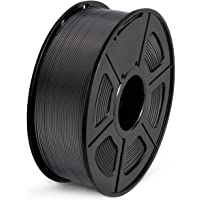 Filamento PLA 1.75mm, SUNLU PLA Filamento de Impresora 3D, Precisión Dimensional +/- 0.02 mm, 1kg Spool, PLA Negro