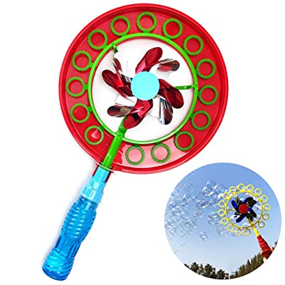 Bageek Kids Bubble Wand Set Creative Windmill Design Bubble Maker Bubble Toy for Party: Toys & Games