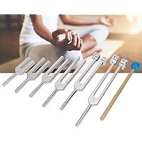 Magnetic Healing Tuning Fork, 6pcs / Set Aluminium Alloy 128-4096Hz 128 256 512 1024 2048 4096 Tuning Fork Kit Healing…