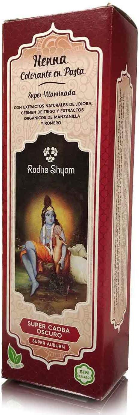 Radhe Shyam 3105700 Henna Súper Caoba Oscuro Pasta 1 Unidad, 200 ml