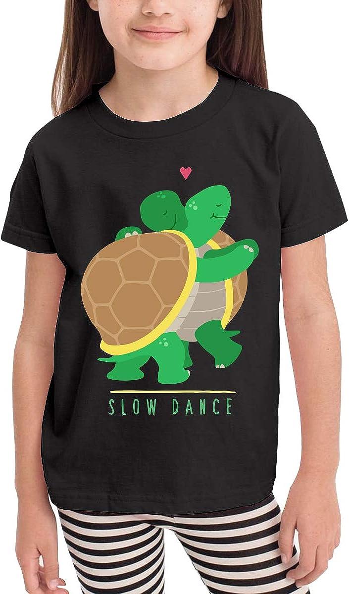 Baby Girls Kids Two Slow Dancing Turtles in Love Cute Short Sleeve Tee Tops Size 2-6