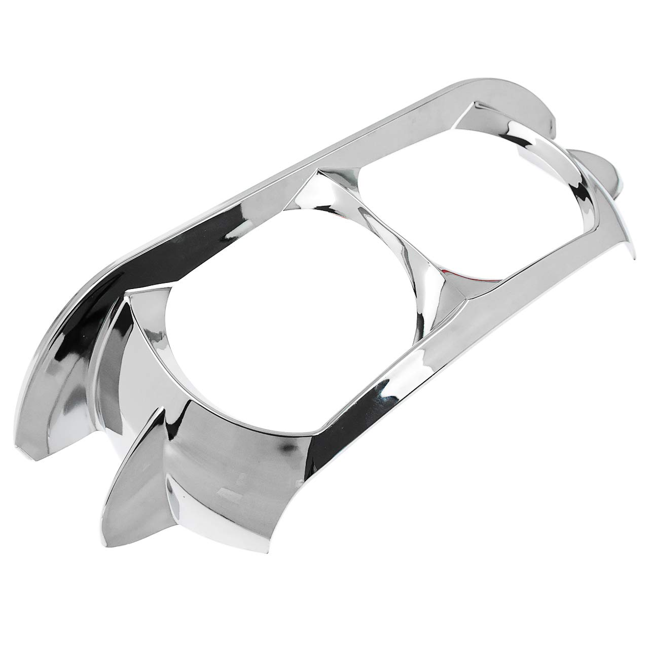 Rebacker Motorcycle Headlamp Headlight Trim Cover Bezel for Harley Road Glide 2015-2019,Vivid Black