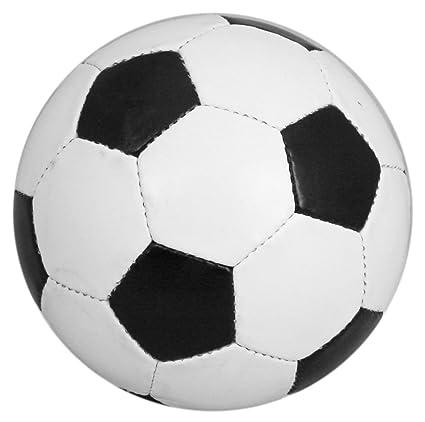 Maxelle Sports Balón de fútbol tradicional, talla 5, blanco y ...