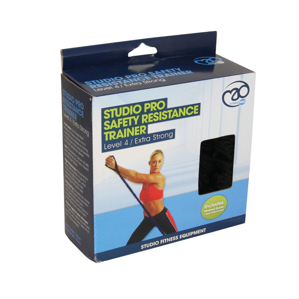 Fitness-Mad Studio Pro Safety - Goma elástica, color azul - Medio: Amazon.es: Deportes y aire libre