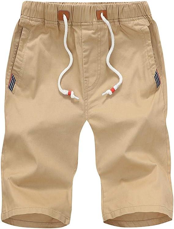 FRAUIT Pantalones Cortos Deportivos de Verano para Hombres ...
