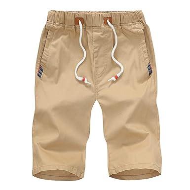 LuckyGirls Hombres Pantalones de Rectos Playa Casual Deportivas ...