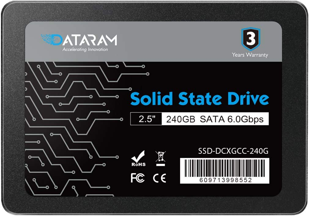 DATARAM 120GB 2.5 SSD Drive Solid State Drive Compatible with MSI A320M Grenade