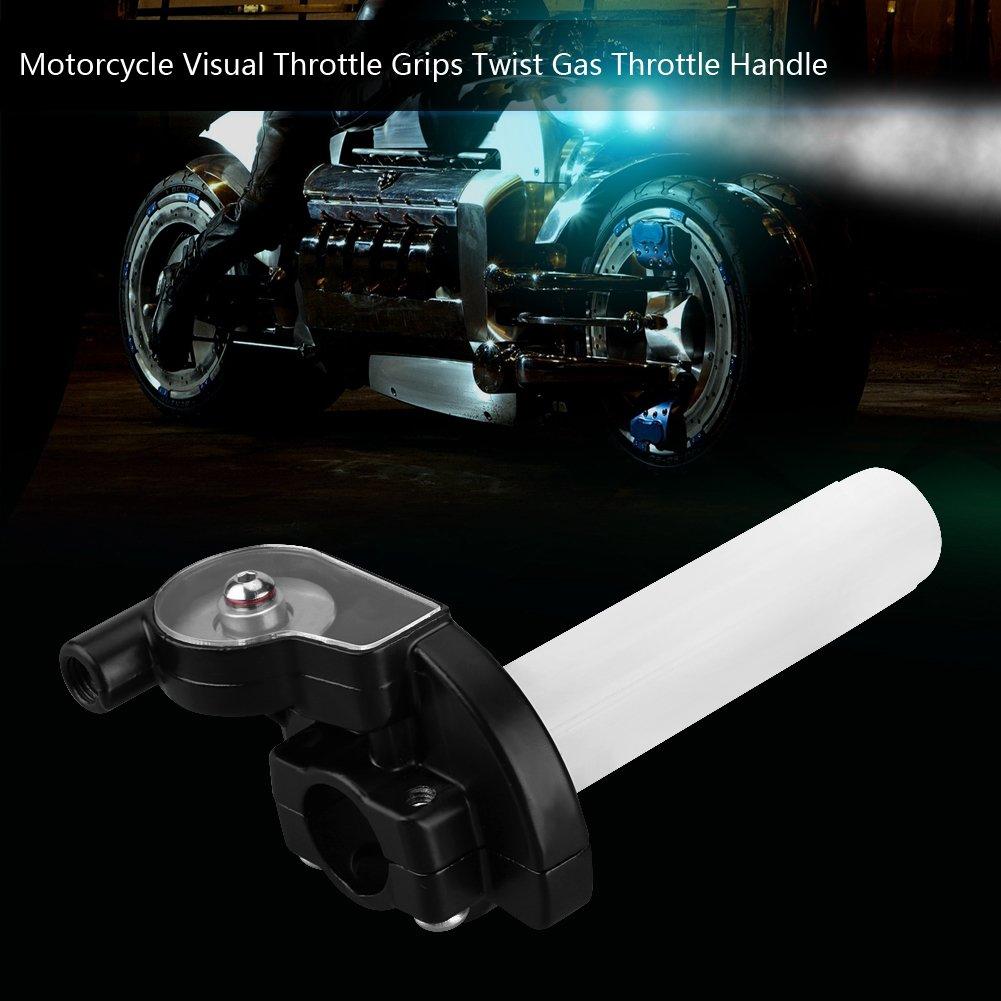 KIMISS Pu/ños del acelerador del acelerador de giro 22mm Apretones visuales del acelerador de la motocicleta Manija del acelerador de gas Twist para 50cc-160cc ATV Dirt Bike naranja