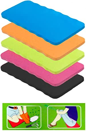 Garden Kneeling Pad Seat Knee Mat Cushion 7 in x 15 in, Assorted Colors, Pack of 4