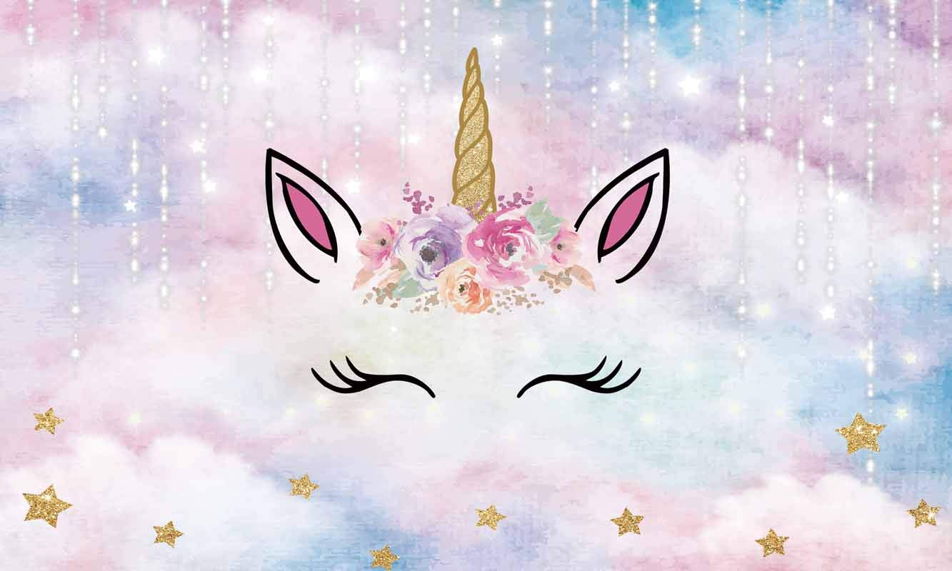 Romeooera Unicorn Tapestry Cartoon Unicorn Tapestry with Sparkling Glitter Unicorn Head and Flower Pink Unicorn Wall Tapestries Wall Hanging for Daughters Girls Kids Unicorn Themed Room
