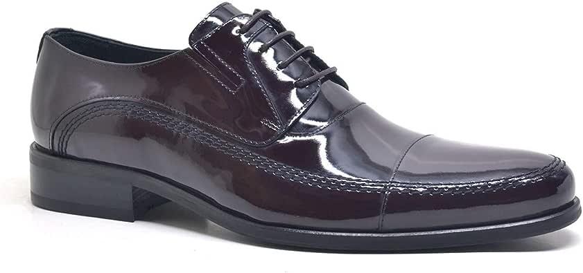 Hakiki Deri Bordo Rugan Klasik Erkek Ayakkabı