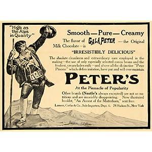 1907 Ad Gala Peter's Milk Chocolate Peter Process NY - Original Print Ad