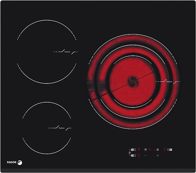 Fagor FPV3350SA Negro Integrado Cerámico - Placa (Negro, Integrado ...
