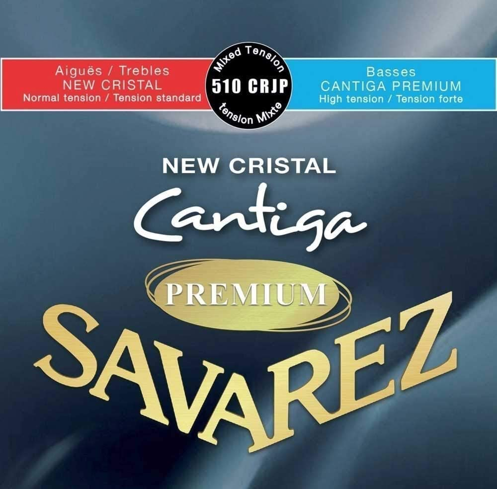 Cuerdas para Guitarra Clásica New Cristal Cantiga Premium Juego Tensión Mezcla normal/alta