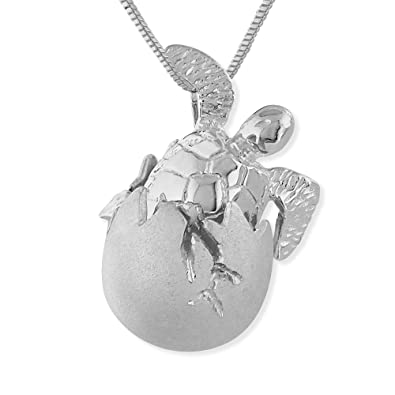 Amazon sterling silver baby turtle hatchling egg pendant sterling silver baby turtle hatchling egg pendant necklace 162quot extender mozeypictures Images