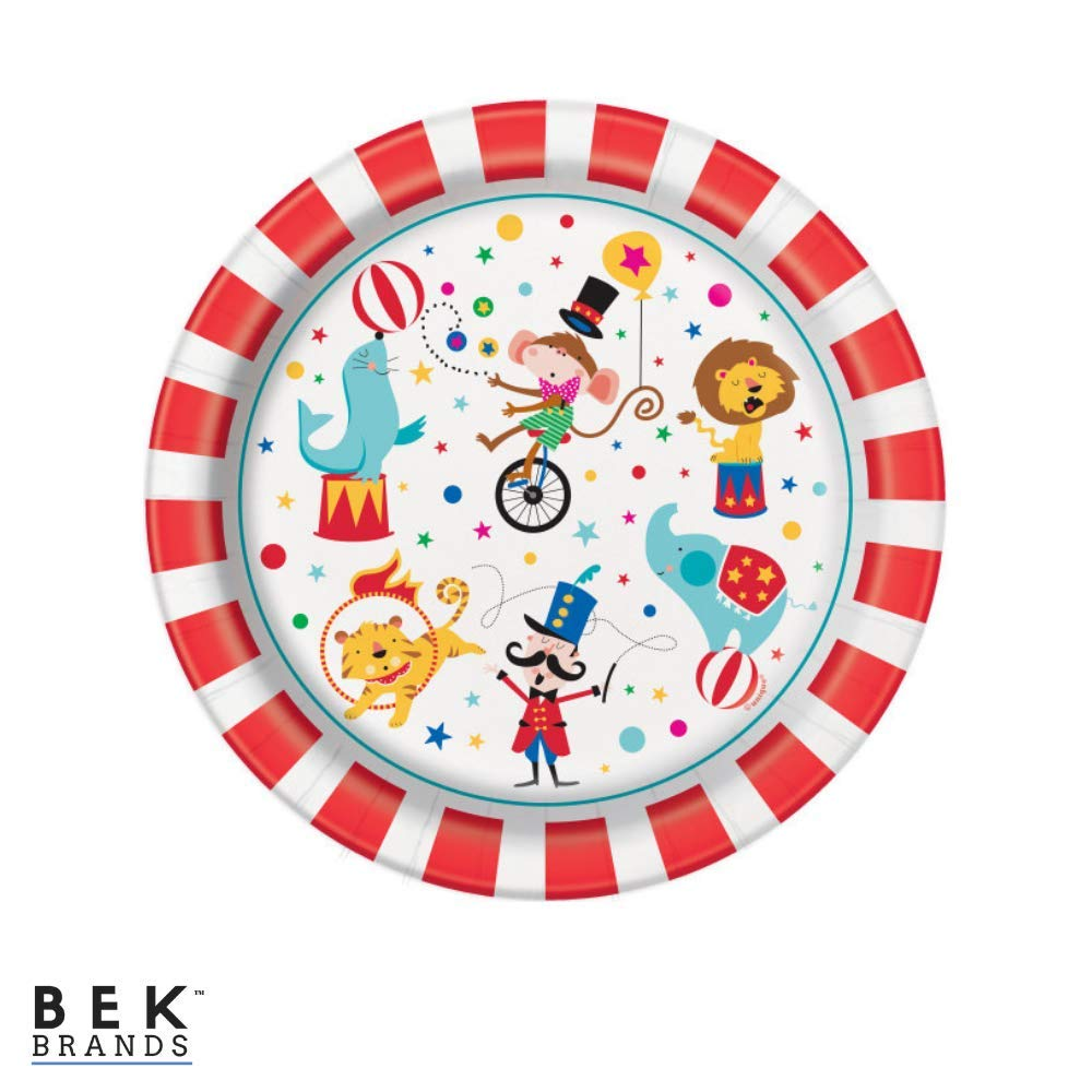 Cups and Tablecover Napkins Bek Brands Boys Circus Birthday Party Tableware Bundle Plates 57 pieces!