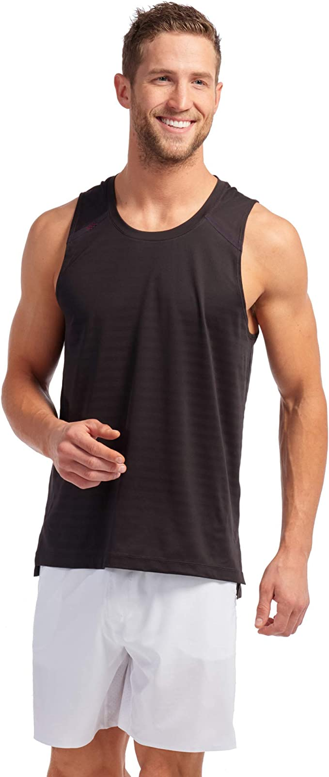 Moisture Wicking Technology Rhone Swift Tank Workout Shirts for Men with Anti-Odor