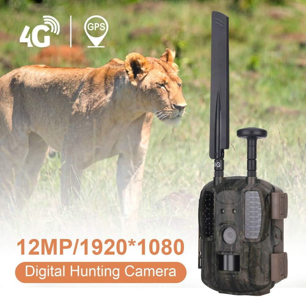 HCATNcame Wildlife Trail Camera,12MP 1080P Full HD Wildlife Scouting Hunting Camera with Motion Activated Night Vision, 120° Wide Angle Lens IP66 Waterproof Game Camera