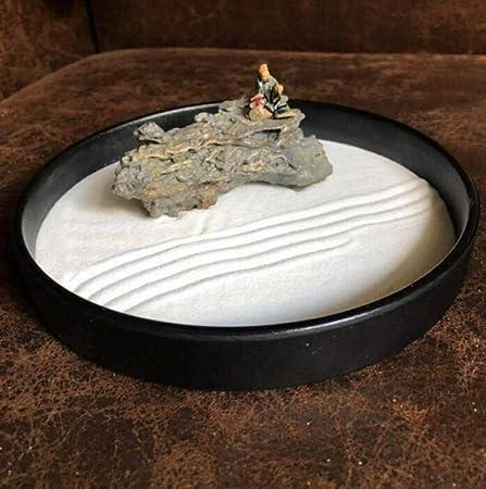Laogg Jardin Zen Mesa de Arena Seca De Montaña Adorno De Paisaje Micro Zen Habitación Decoraciones de Oficina Meditación Estatua Regalos Feng Shui Aliviar el estrés y la tensión: Amazon.es: Hogar