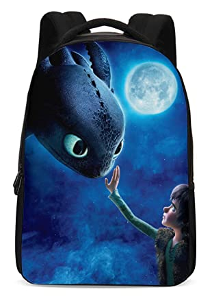 0e5fedd8ffe Amazon.com: How to Train Your Dragon Backpack Hiccup Bags Night Fury  Toothless Schoolbags for Men Boys Girls: Clothing