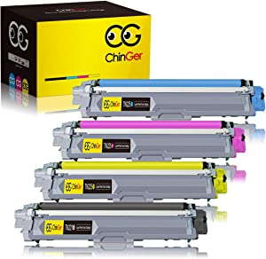 CHINGER Compatible Toner Cartridge Replacement for Brother TN221 TN225 TN-221 TN-225 Used with HL-3170CDW HL-3140CW MFC-9130CW MFC-9340CDW HL-3180CDW MFC-9330CDW (Black, Cyan, Magenta, Yellow, 4 Pack)