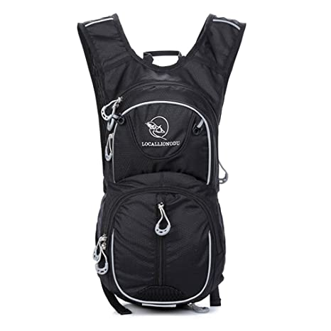 123cf7df4a2e Unisex Youth Mini Backpack 12L Rucksack for Cyling Running Hiking (Black)